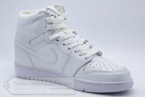 Кроссовки Air Jordan 1 Mid All White женские/мужские арт. N748