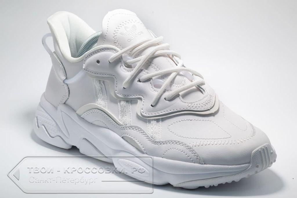 Кроссовки Adidas Originals Ozweego All White женские/мужские арт. AD380