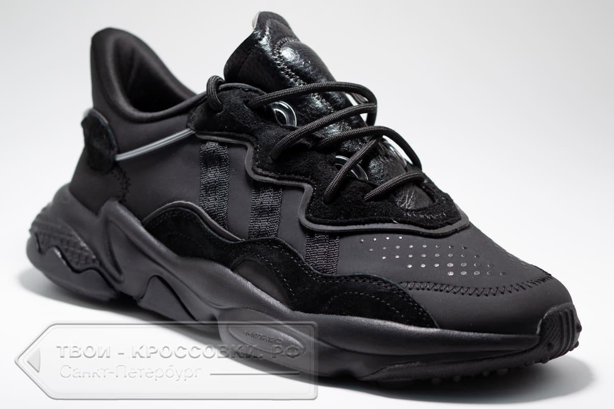 Кроссовки Adidas Originals Ozweego All Black мужские арт. AD431
