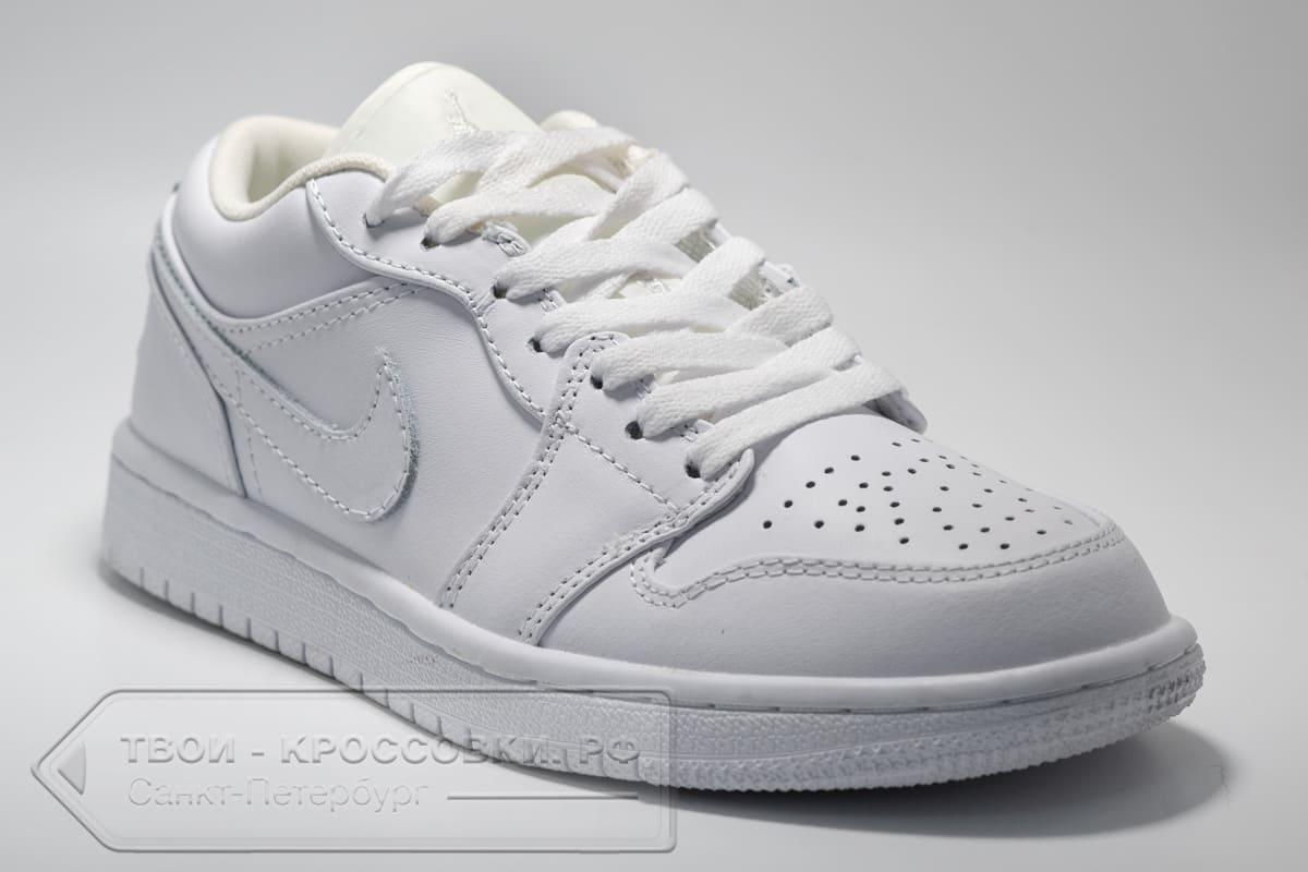Кроссовки Nike Air Jordan 1 Low All White женские арт. N1021