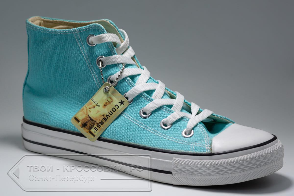 Кеды Converse женские высокие голубые арт. C17